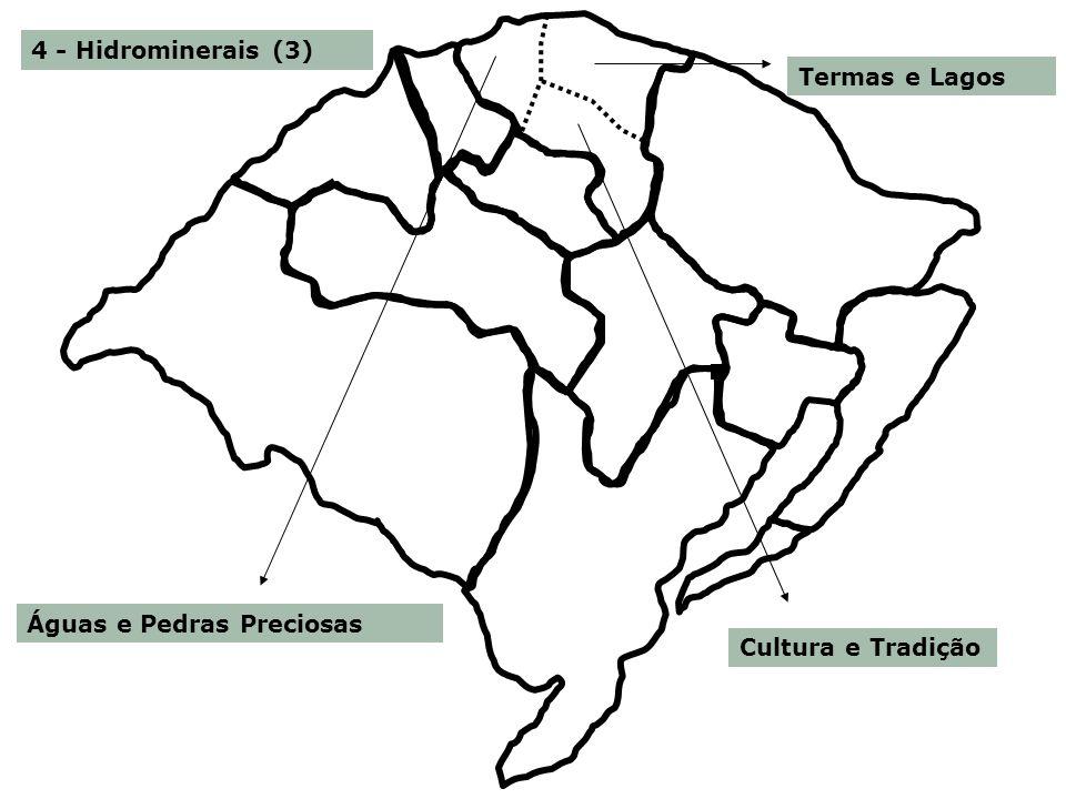 4 - Hidrominerais (3) Águas e Pedras Preciosas Termas e Lagos Cultura e Tradição