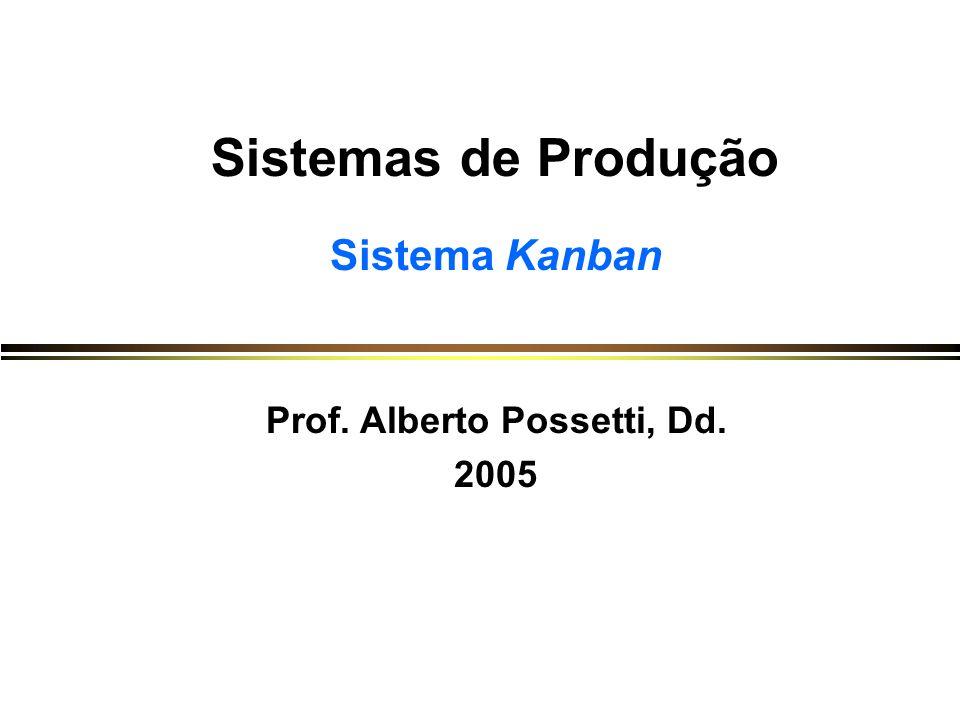 Sistemas de Produção Sistema Kanban Prof. Alberto Possetti, Dd. 2005