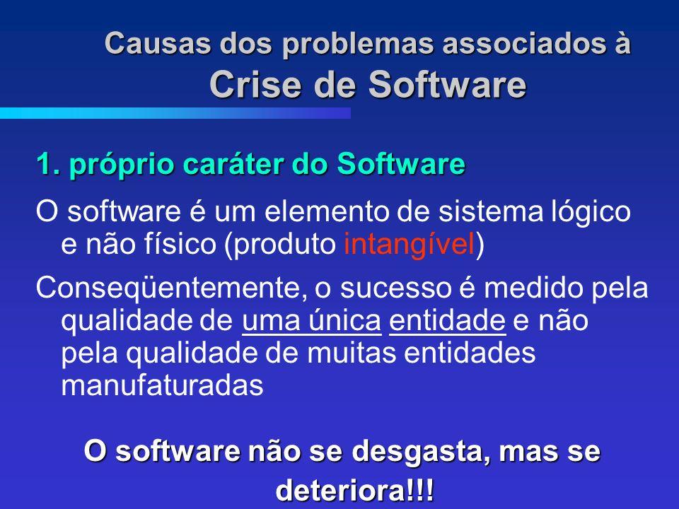 Causas dos problemas associados à Crise de Software 1.