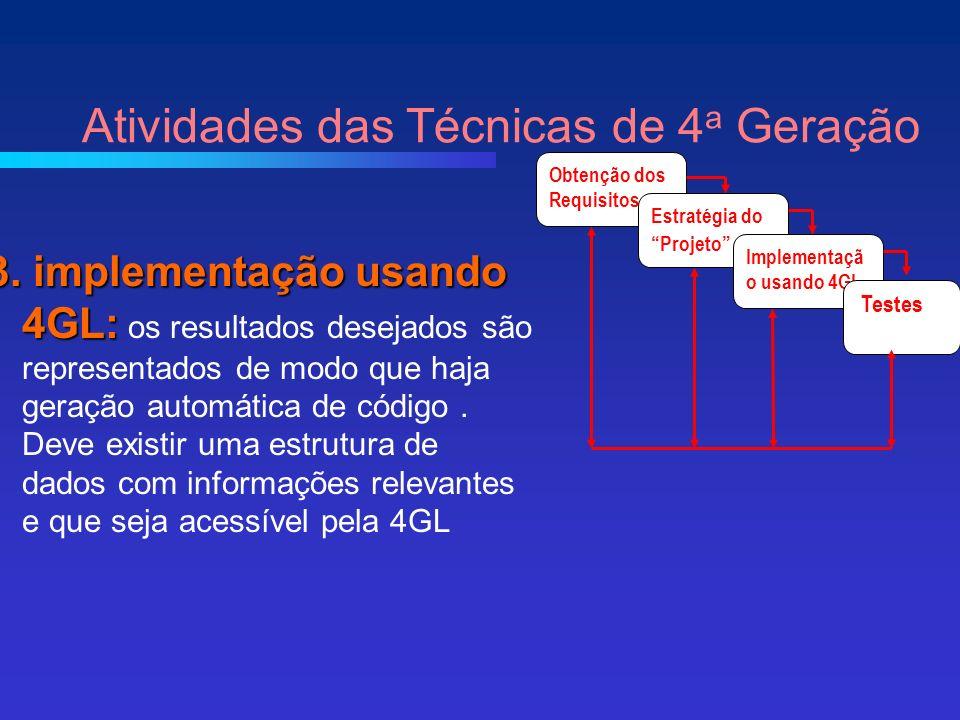 3. implementação usando 4GL: 3.