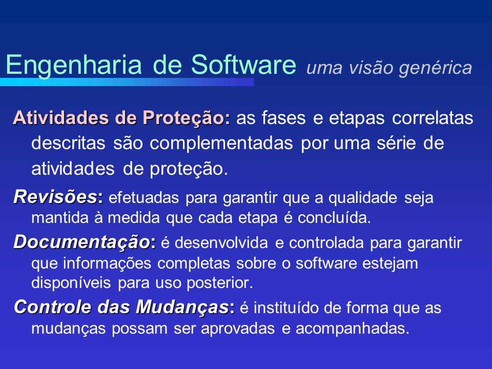 Atividades de Proteção: Atividades de Proteção: as fases e etapas correlatas descritas são complementadas por uma série de atividades de proteção.