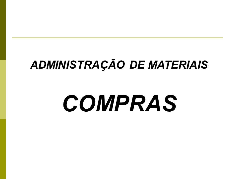 ADMINISTRAÇÃO DE MATERIAIS COMPRAS