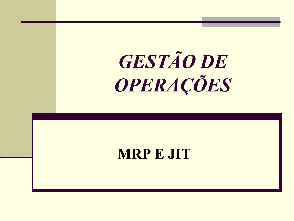 GESTÃO DE OPERAÇÕES MRP E JIT