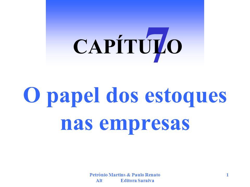 Petrônio Martins & Paulo Renato Alt Editora Saraiva 1 O papel dos estoques nas empresas 7 CAPÍTULO