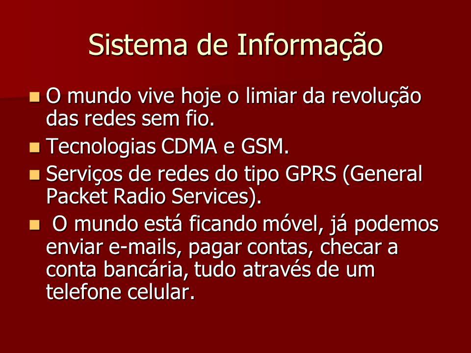 Sistema de Informação O mundo vive hoje o limiar da revolução das redes sem fio.