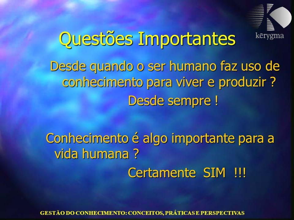 GESTÃO DO CONHECIMENTO: CONCEITOS, PRÁTICAS E PERSPECTIVAS Paulo Alberto Bastos Junior paulo@kerygmabrasil.com.br Contatos: