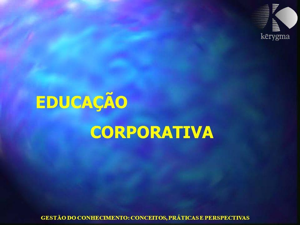 GESTÃO DO CONHECIMENTO: CONCEITOS, PRÁTICAS E PERSPECTIVAS EDUCAÇÃO CORPORATIVA
