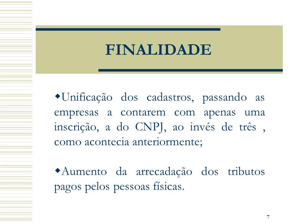 8 OBTENÇÃO DO CNPJ Documentação necessária: Ficha Cadastral da Pessoa Jurídica - FCPJ acompanhada, no caso de sociedades, do Quadro de Sócios e Administradores - QSA, gerada por intermédio do Programa Gerador de Documentos do CNPJ.