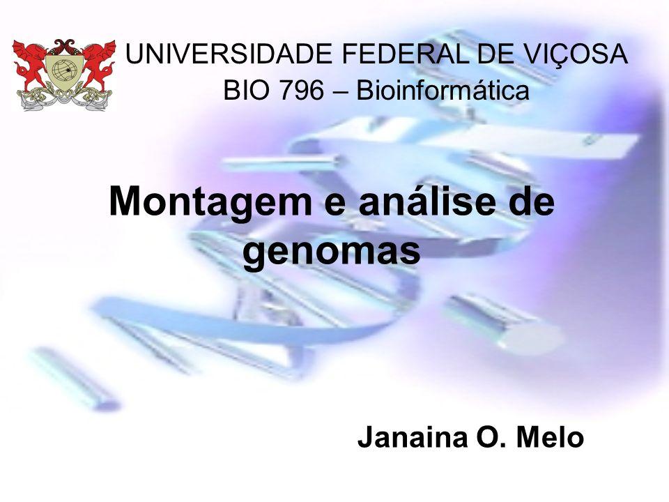 Montagem e análise de genomas Janaina O. Melo UNIVERSIDADE FEDERAL DE VIÇOSA BIO 796 – Bioinformática