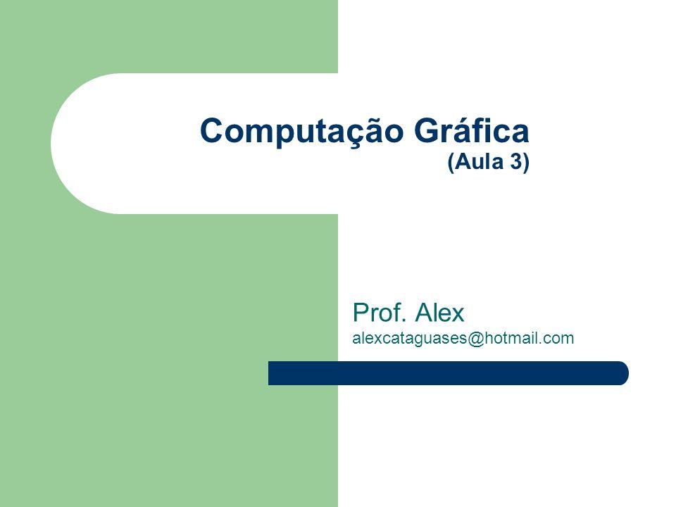 Computação Gráfica (Aula 3) Prof. Alex alexcataguases@hotmail.com