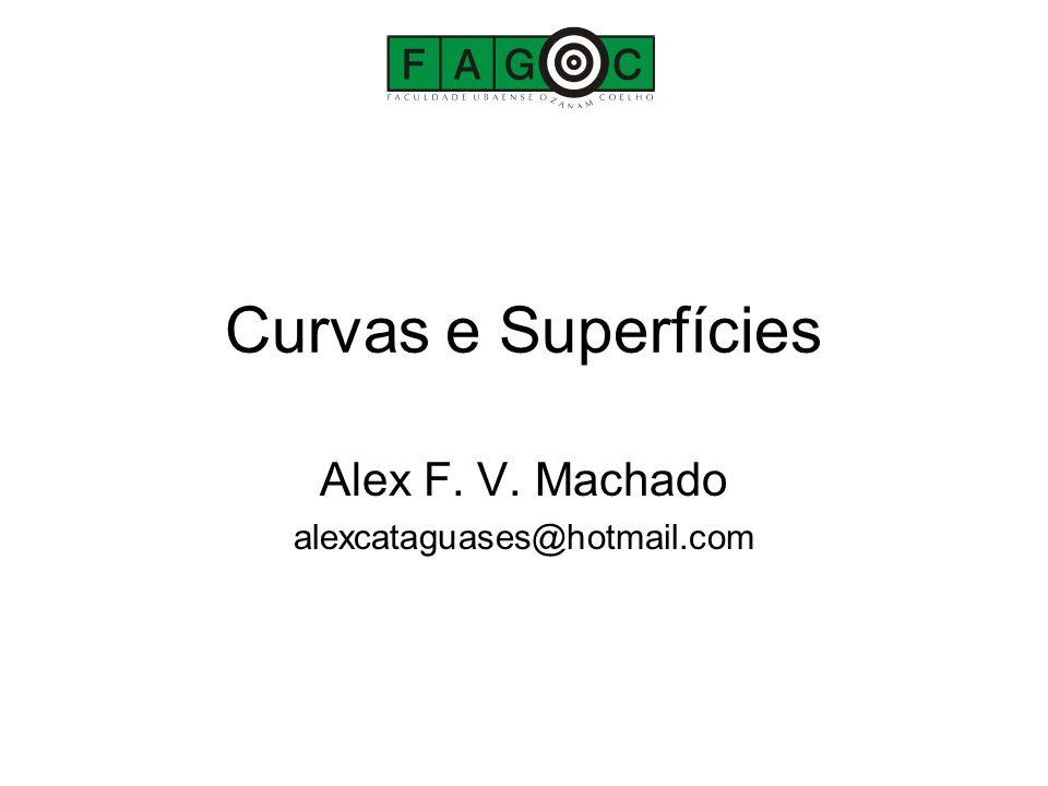 Curvas e Superfícies Alex F. V. Machado alexcataguases@hotmail.com