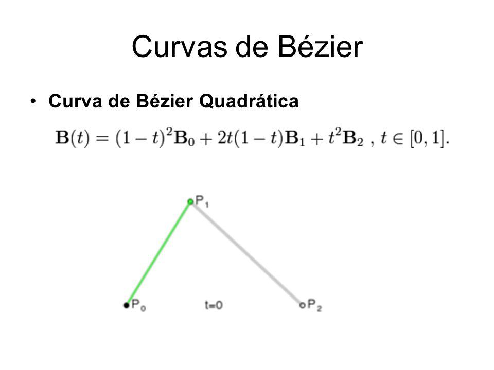 Curvas de Bézier Curva de Bézier Quadrática