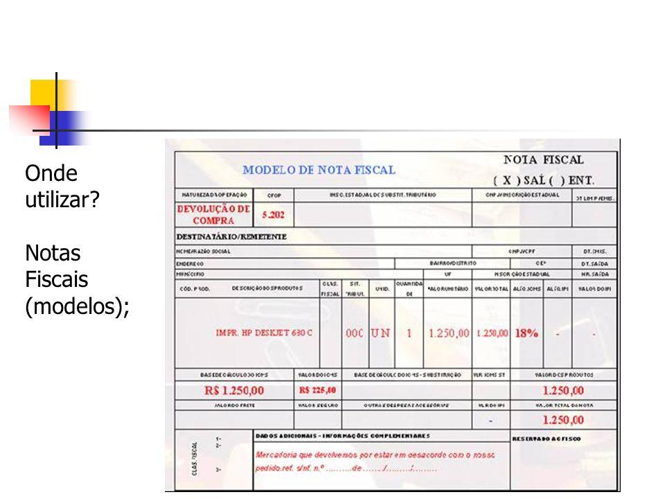 Livros de Registro de Entradas; Livros de Registro de Saídas; Registro de Apuração do ICMS;