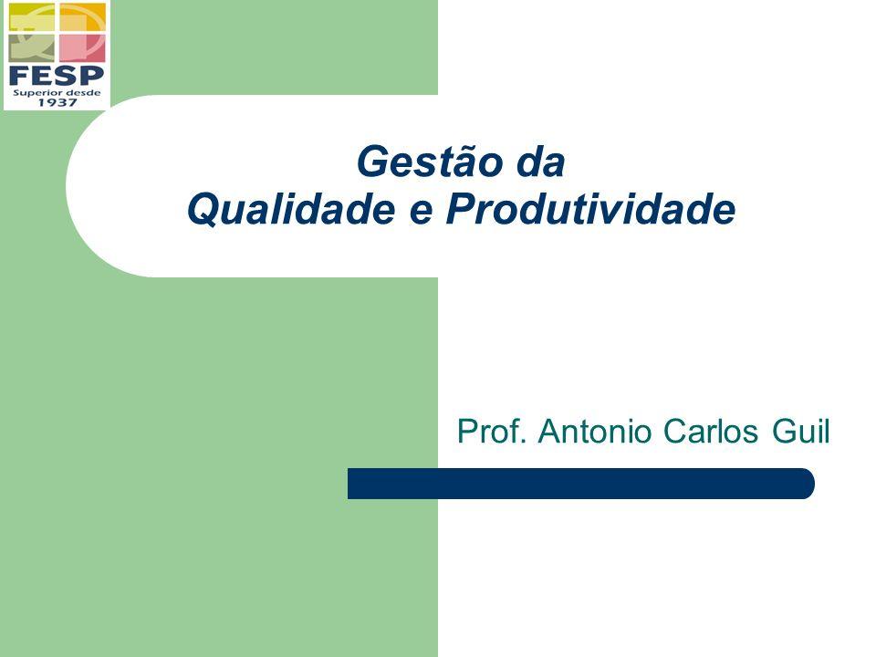 Gestão da Qualidade e Produtividade Prof. Antonio Carlos Guil