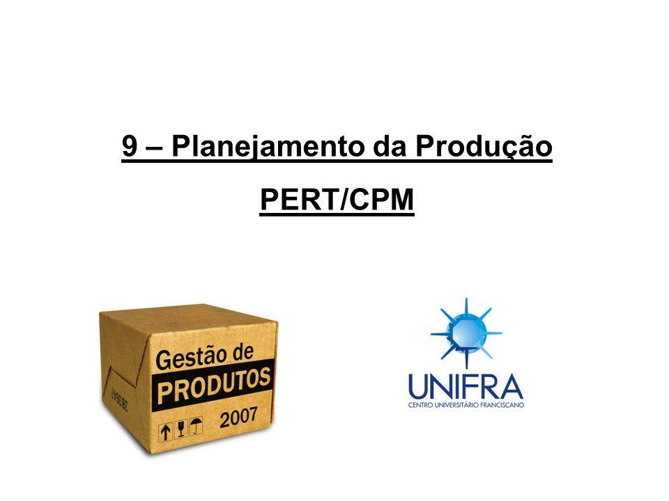 9 – Planejamento da Produção PERT/CPM