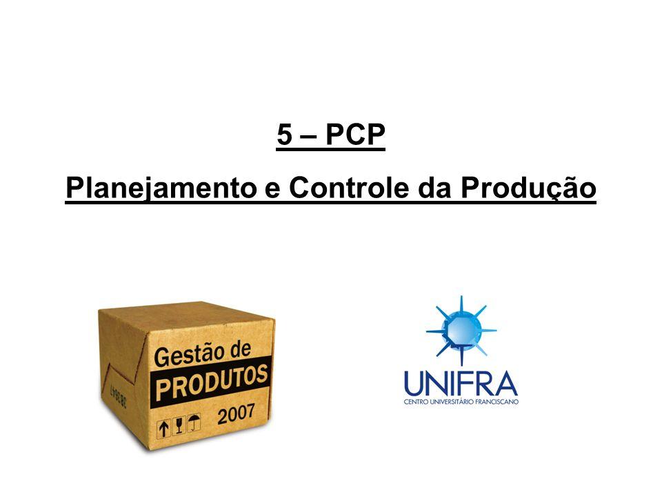 PCP – Planejamento e Controle da Produção - Função de apoio de coordenação das várias atividades de acordo com os planos de produção, para atendimento nos prazos e quantidades.