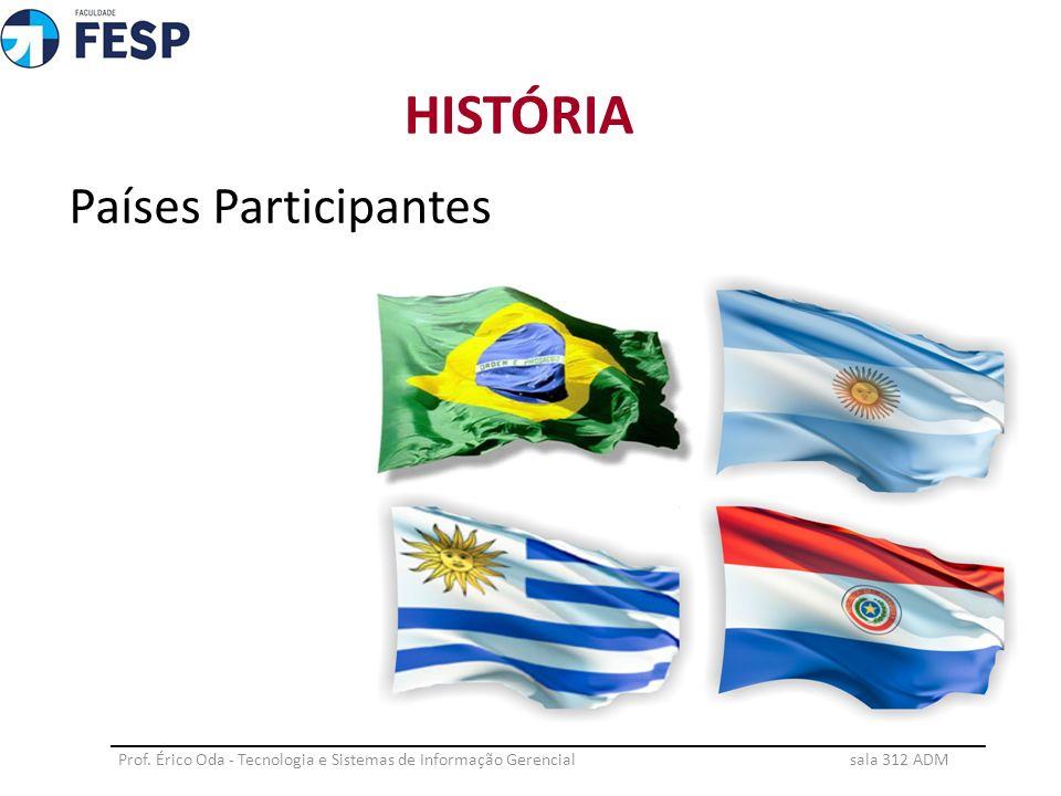 Países Participantes HISTÓRIA Prof. Érico Oda - Tecnologia e Sistemas de Informação Gerencial sala 312 ADM ___________________________________________