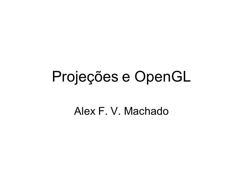 Projeções e OpenGL Alex F. V. Machado