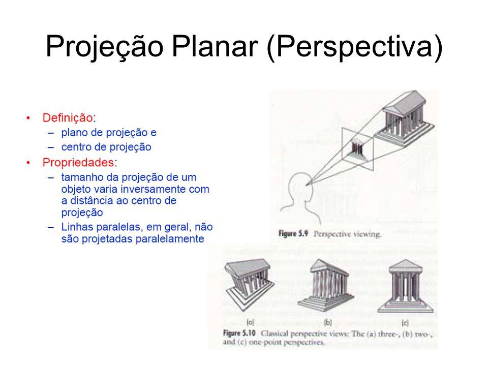 Projeção Planar (Perspectiva)