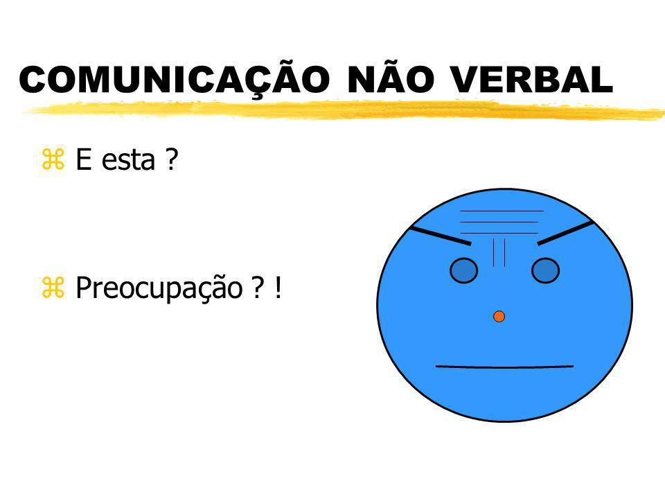 COMUNICAÇÃO NÃO VERBAL z E esta ? z Preocupação ? !