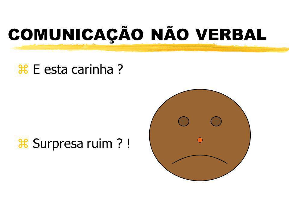 COMUNICAÇÃO NÃO VERBAL z E esta carinha ? z Surpresa ruim ? !