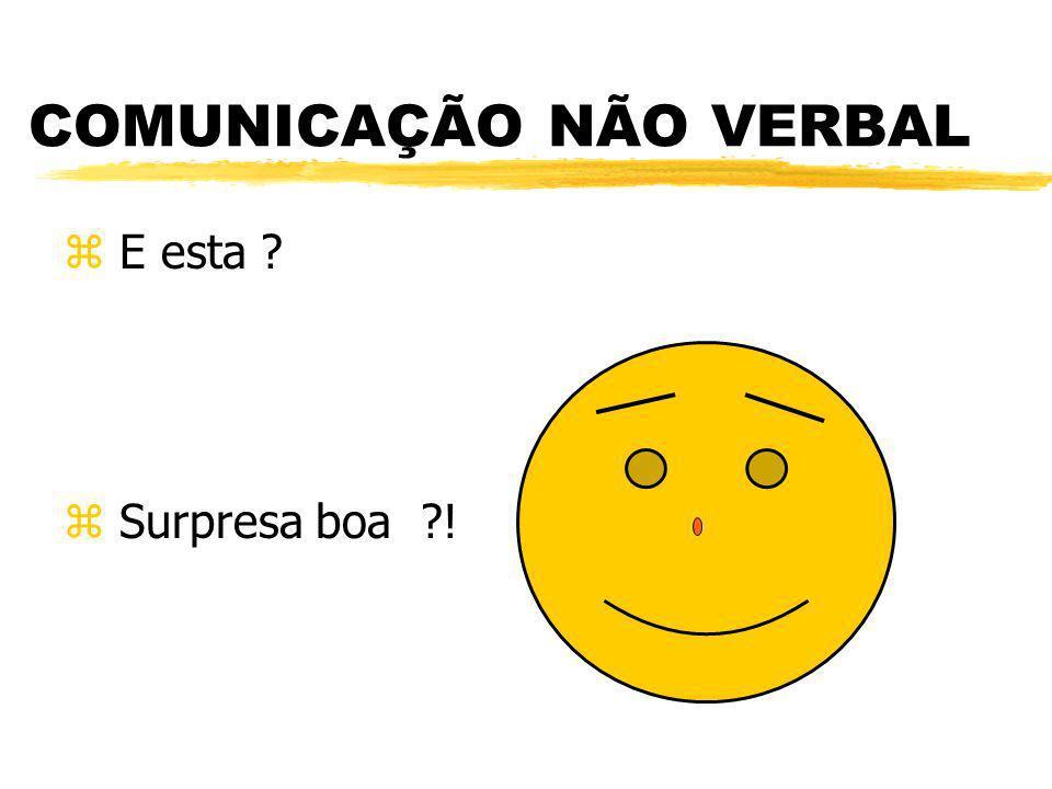 COMUNICAÇÃO NÃO VERBAL z E esta ? z Surpresa boa ?!
