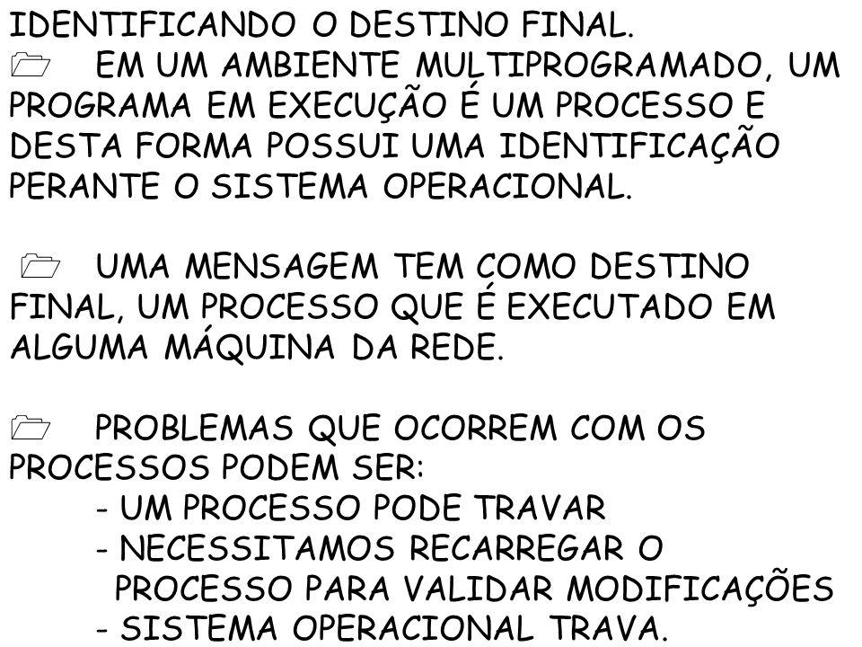 IDENTIFICANDO O DESTINO FINAL.