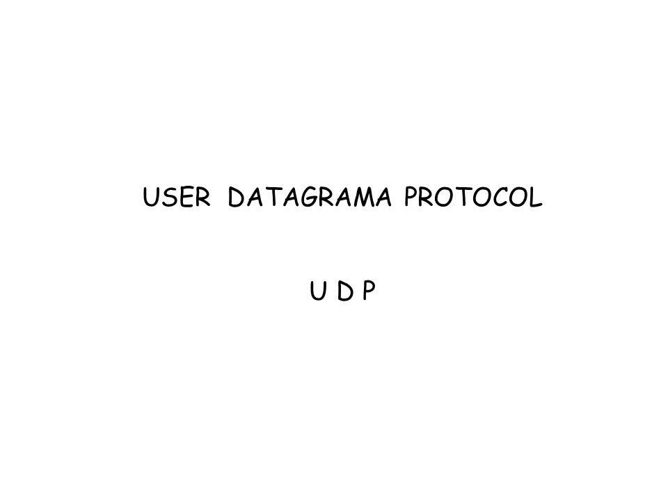 USER DATAGRAMA PROTOCOL U D P