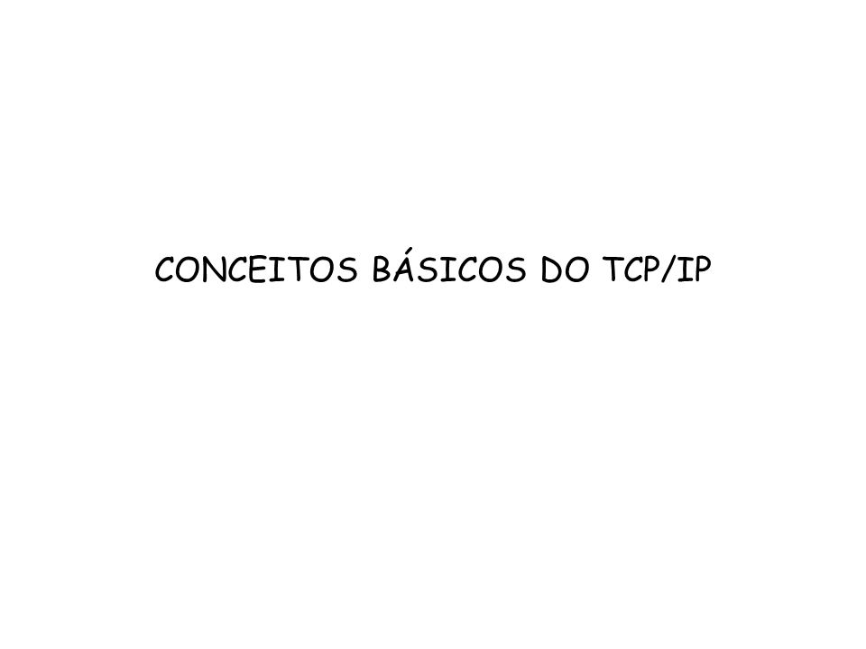 CONCEITOS BÁSICOS DO TCP/IP