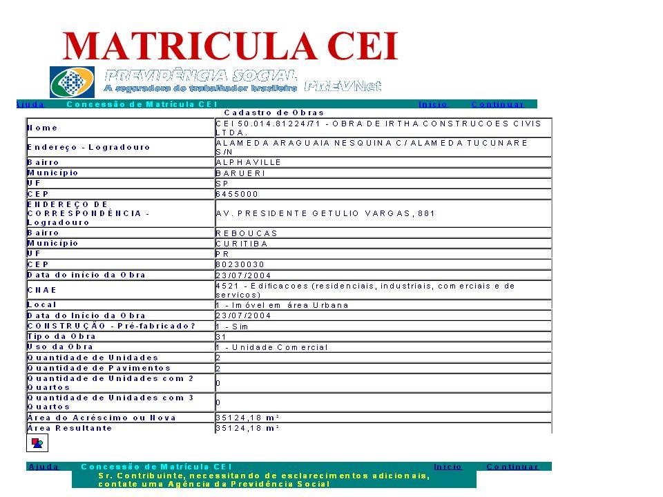 MATRICULA CEI