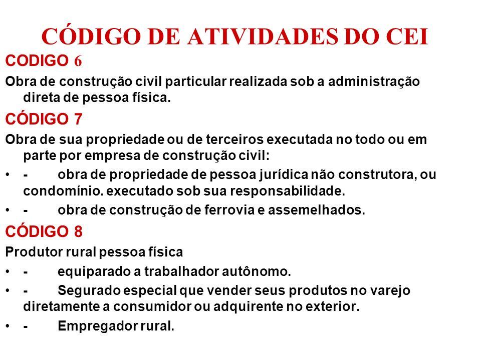 ABRANGÊNCIA A Matricula CEI, por regular um tributo federal abrange todo o território nacional.