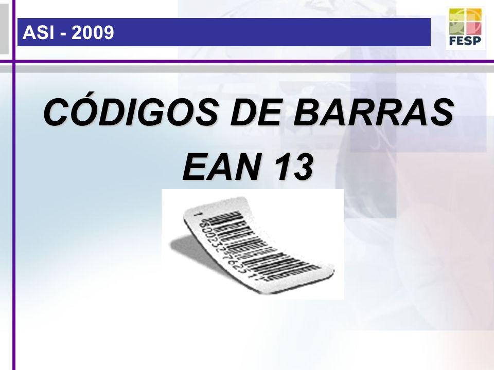 ASI - 2009 CÓDIGOS DE BARRAS EAN 13
