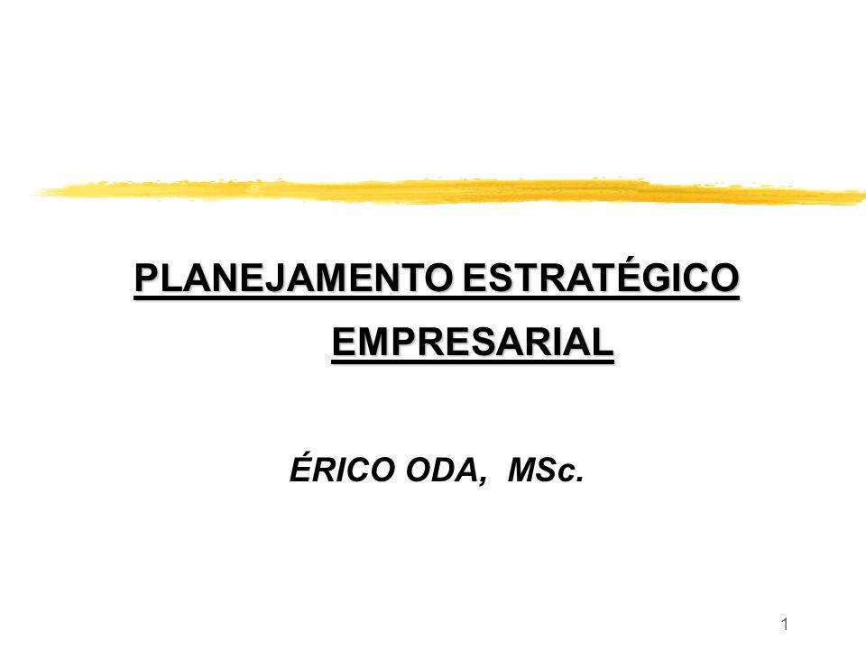 1 PLANEJAMENTO ESTRATÉGICO EMPRESARIAL ÉRICO ODA, MSc.