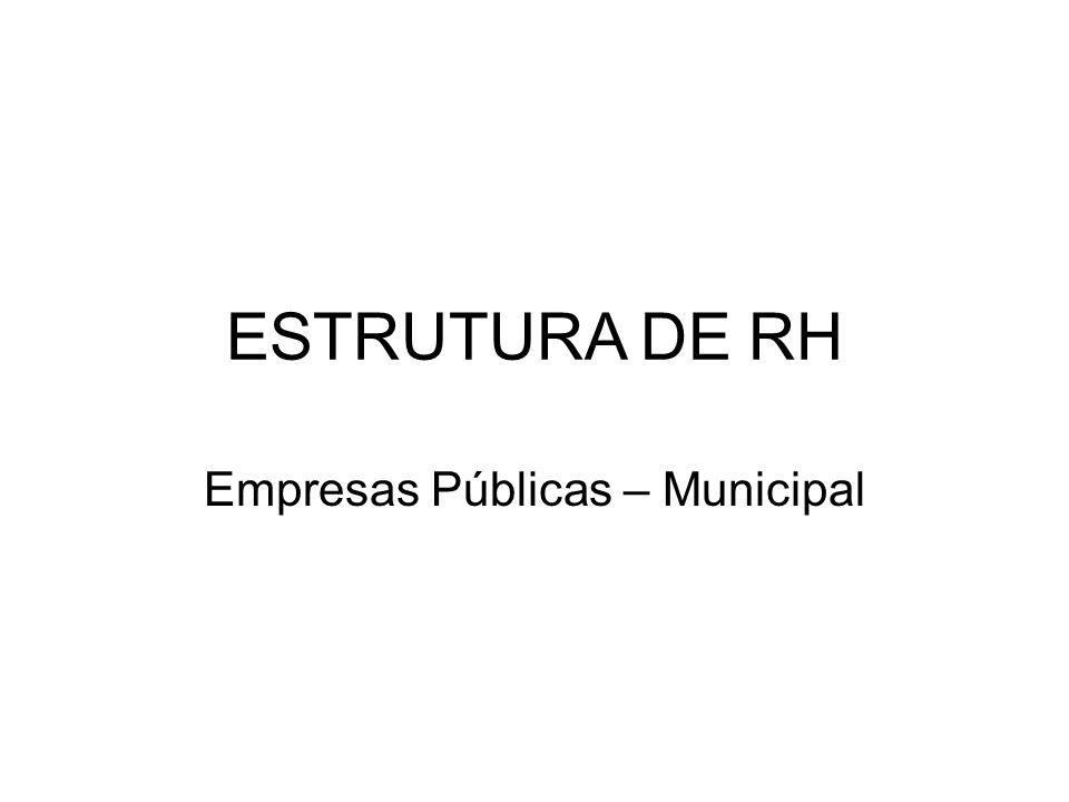 ESTRUTURA DE RH Empresas Públicas – Municipal