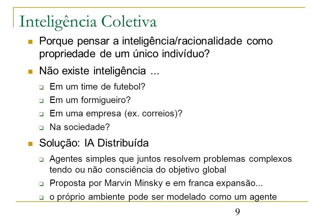 9 Inteligência Coletiva Porque pensar a inteligência/racionalidade como propriedade de um único indivíduo.