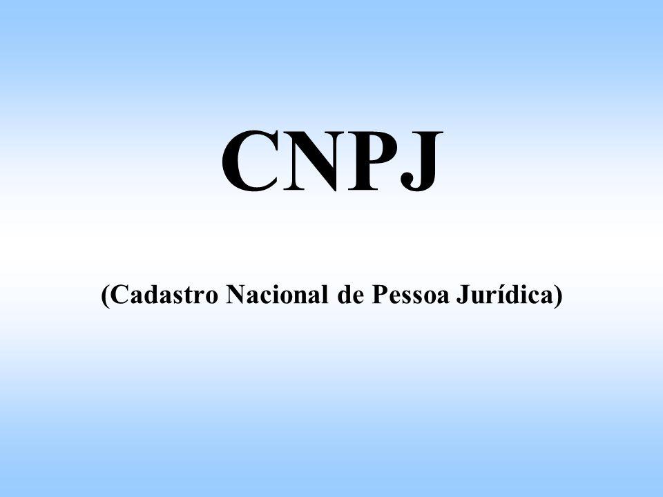 CNPJ (Cadastro Nacional de Pessoa Jurídica)