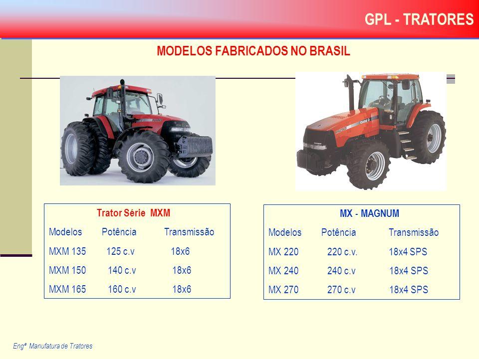 MODELOS FABRICADOS NO BRASIL Engª Manufatura de Tratores MX - MAGNUM Modelos Potência Transmissão MX 220 220 c.v. 18x4 SPS MX 240 240 c.v 18x4 SPS MX