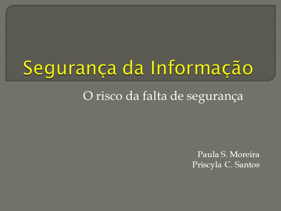 O risco da falta de segurança Paula S. Moreira Priscyla C. Santos