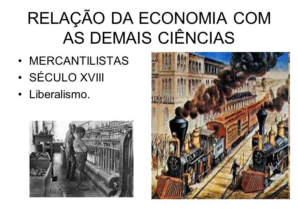 RELAÇÃO DA ECONOMIA COM AS DEMAIS CIÊNCIAS MERCANTILISTAS SÉCULO XVIII Liberalismo.