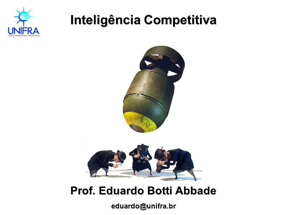 Inteligência Competitiva Prof. Eduardo Botti Abbade eduardo@unifra.br