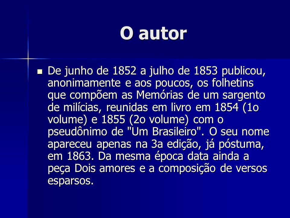 O autor Em 1858 foi nomeado Administrador da Tipografia Nacional, quando encontrou Machado de Assis, que lá trabalhava como aprendiz de tipógrafo.