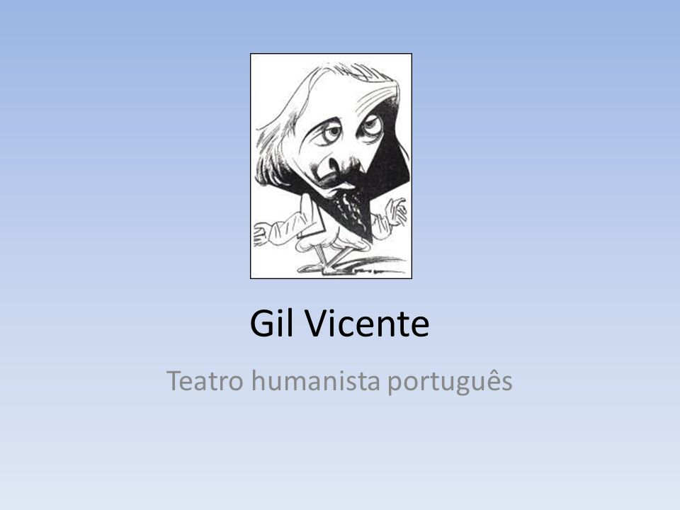 Gil Vicente Teatro humanista português