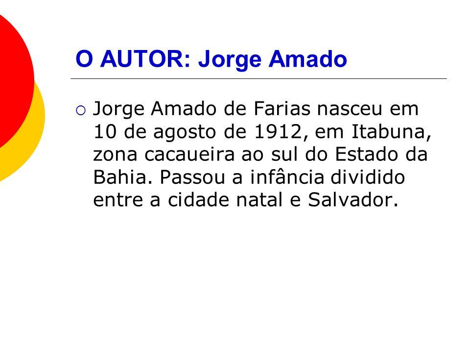 Jorge Amado Jorge Amado representa o regionalismo baiano da zona rural do cacau e da zona urbana de Salvador.