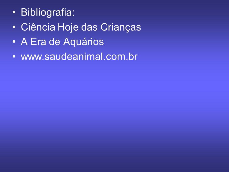 Bibliografia: Ciência Hoje das Crianças A Era de Aquários www.saudeanimal.com.br