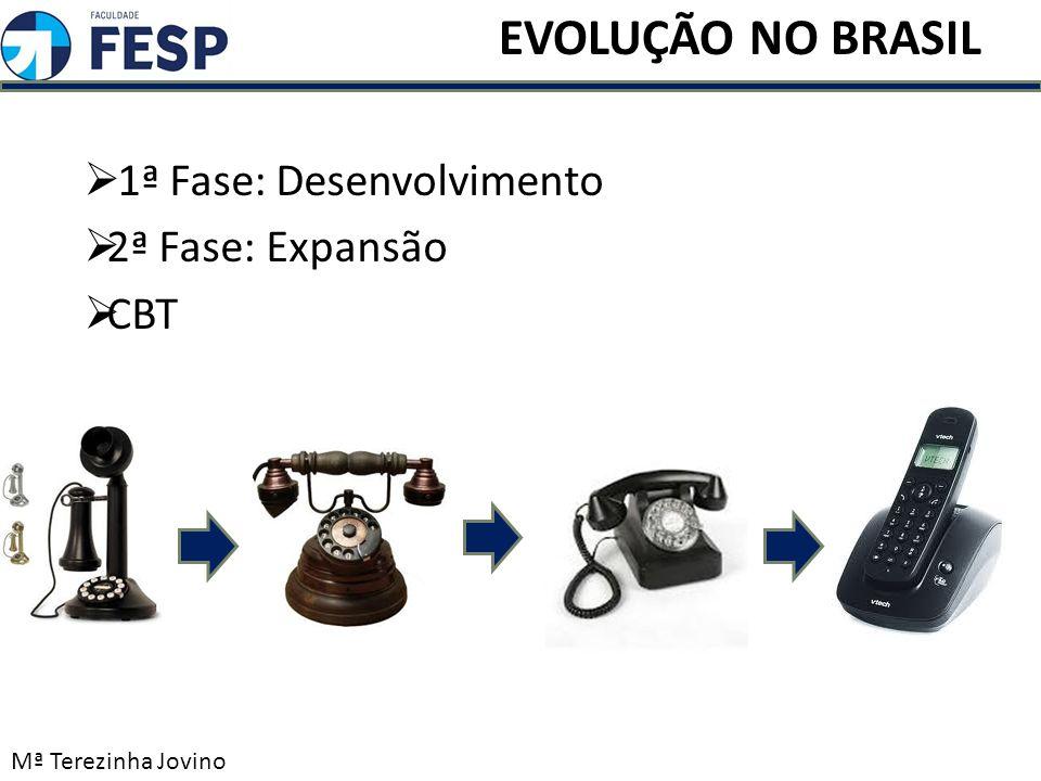 1ª Fase: Desenvolvimento 2ª Fase: Expansão CBT Mª Terezinha Jovino EVOLUÇÃO NO BRASIL