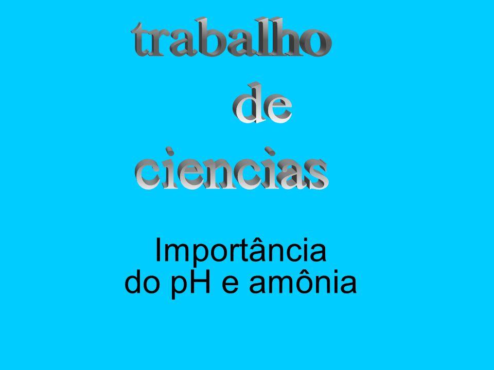 Importância do pH e amônia