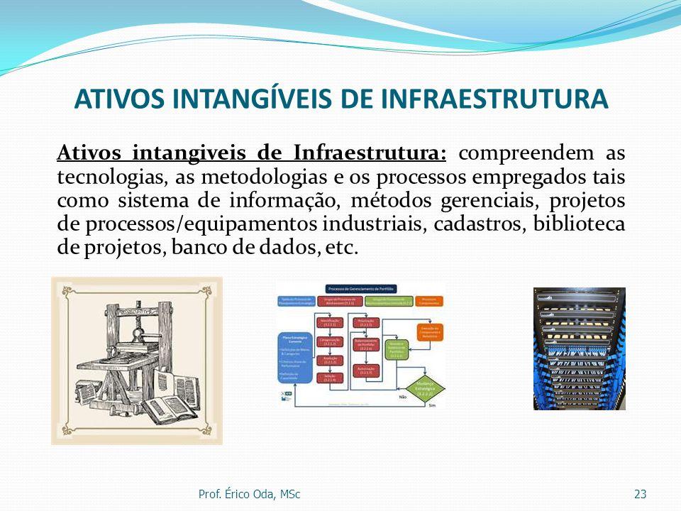 ATIVOS INTANGÍVEIS DE INFRAESTRUTURA Ativos intangiveis de Infraestrutura: compreendem as tecnologias, as metodologias e os processos empregados tais