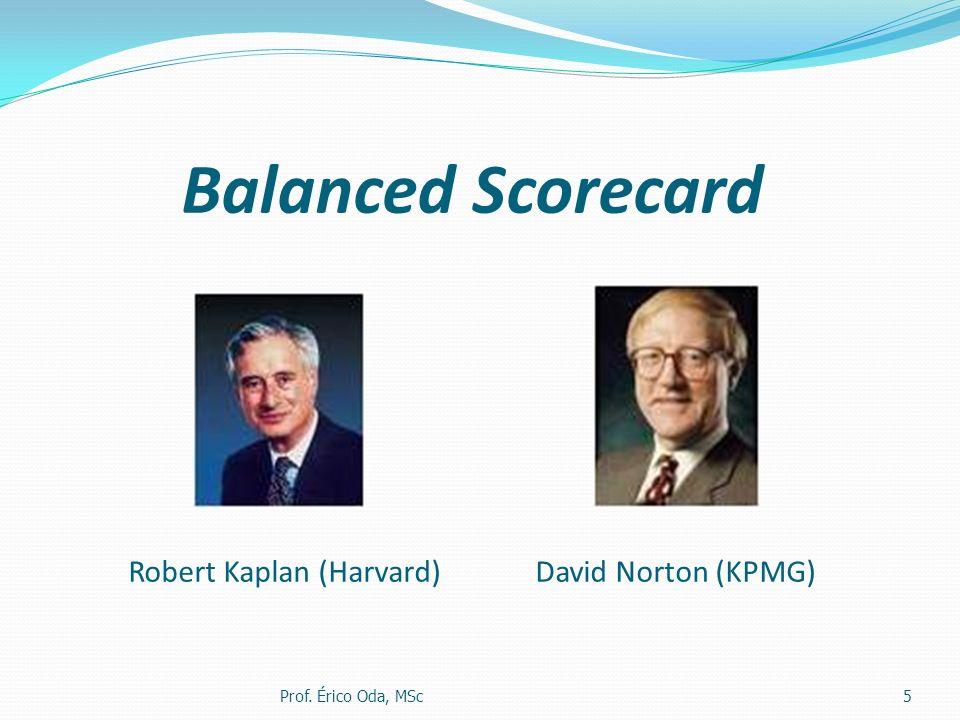 Balanced Scorecard Robert Kaplan (Harvard) David Norton (KPMG) Prof. Érico Oda, MSc5
