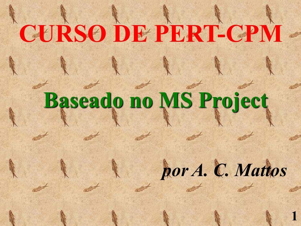 1 CURSO DE PERT-CPM por A. C. Mattos Baseado no MS Project