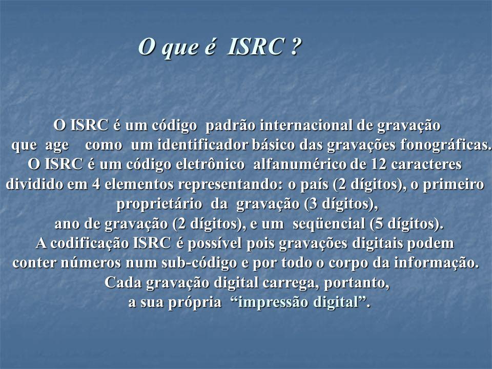O ISRC é fixado no fonograma ou no videofonograma pelo produtor durante o estágio da pré-masterização e proporcionará o intercâmbio de informações e simplificará a sua administração.
